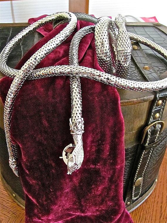 Vintage Snake Belt & Bracelet via Etsy.