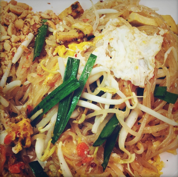 If I could eat on thing over and over again, it would be this Pad Thai.  With a Singha to wash it down!