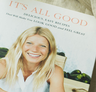 """It's All Good"" Gwyneth's new cookbook.  Via goop.com."